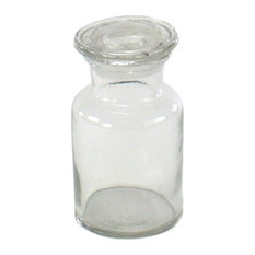 Homart Extra Small Glass Pharmacy Jar Bathroom Canisters