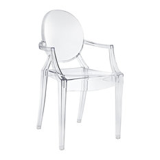 Acrylic Stacking Dining Armchair, Clear