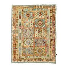 "Kelim Afghan Rug Oriental Rug 8'6""x6'9"" Hand-Woven Classic"