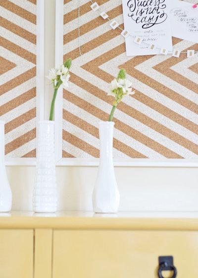 Ikea Frames to Chevron Cork Board