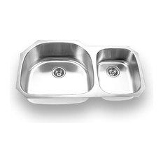 Yosemite Home Decor - 18-Gauge Stainless Steel Undermount Double Bowl Kitchen Sink - Kitchen Sinks