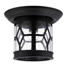 Canarm IOL207 Atlanta Flush Mount Outdoor Ceiling Fixture, Black