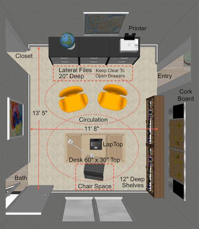 Contemporary Floor Plan by Steven Corley Randel, Architect