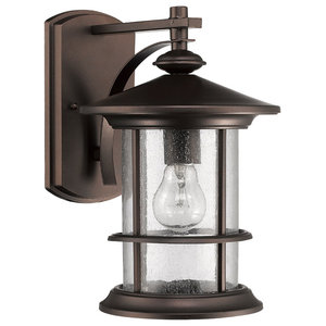 9e3672df5ac7 Ashley Superiora Transitional 1-Light Rubbed Bronze Outdoor Wall Sconce