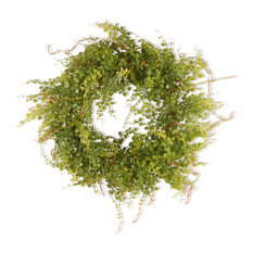 "22"" Garden Accents Boxwood Berry Wreath"