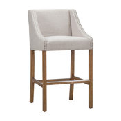 Castaic Stool by Kosas Home, French Beige, Counter Height