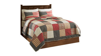 Victory 100% Cotton Queen 3-Piece Quilt Set, Quilt and 2 Shams