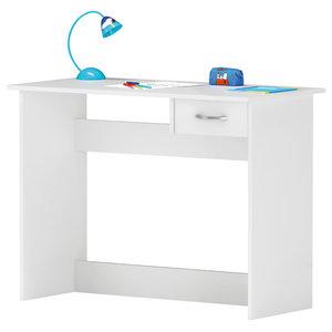 Alpin 1-Drawer Desk, Pearl White
