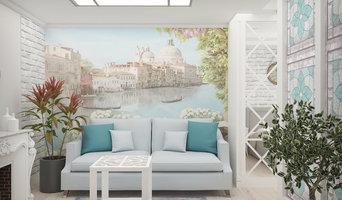Гостиная-спальня в средиземноморском стиле