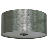 """Whitfield Lighting - Keisha Lamp Shade, Starlight Weave - The Modena Collection features a series of modern drum shades for our table and floor lamps. Shades are available in a variety of sizes and colours to change or update the look of any room. The round metallic silk look 16"""" Starlight Weave fabric shade is an elegant shade with a contemporary feel."""