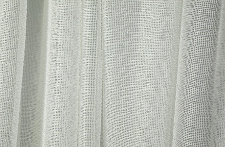 gehry sheer drapery in white drapery fabric