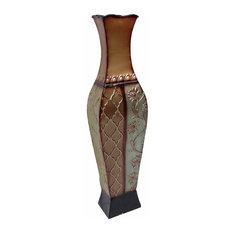 "24"" Francesca Design Metal Floor Vase"