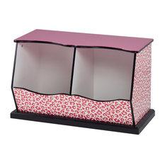 Animal Print Cubby Storage Unit, Leopard