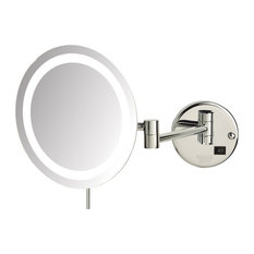 Most popular wall mounted lighted makeup mirrors for 2018 houzz jerdon sharper image 85 led lighted wall mirror with 8x mag chrome mozeypictures Image collections