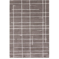 FaveDecor Contemporary Vasgas Charcoal Area Rug, 5'x8'