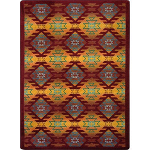 Kaleidoscope Rug Encircled Multicolored 5 4 X7 8 Contemporary Kids Rugs By Joy Carpets
