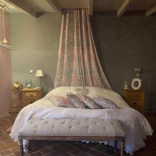 Chambre romantique rose et gris