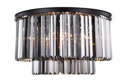 Sydney 8-Light Flush Mount, Shade: Silver