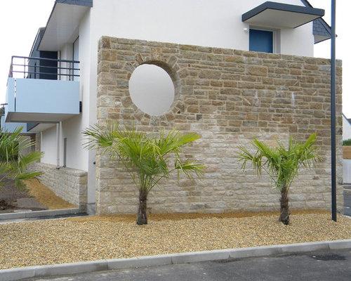 Mur en pierre décoratif extérieur