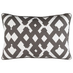 """Surya - Surya Large Zig Zag 13"""" x 20"""" Dark Brown And White Pillow Cover ZZG002-1320 - Embodying timeless traditions while maintaining the fabulous and fashionable elements of trend worthy design, the pieces from the Large Zig Zag Collection will effortlessly cement themselves in your decor space! The meticulously woven construction of these pieces boasts durability and will provide natural charm into your decor space. Made with Linen, Cotton in India, Spot Clean Only, Line Dry."""