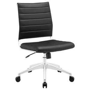 Jive Armless Mid Back Office Chair, Black