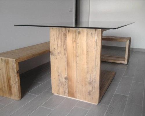 tavolo design in legno recuperato