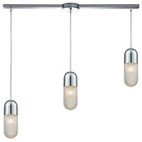 Waterford 3 Light Mini Pendant in Polished Chrome