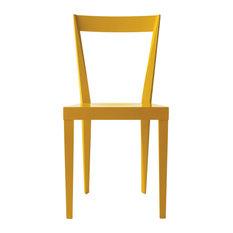 Livia Chairs, Glossy Dark Yellow, Set of 2
