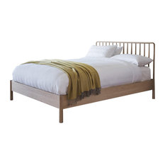 Wycombe Oak Spindle Bed, Super King