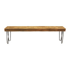 Solid Reclaimed Wood Beam Bench, 4u0027   Dining