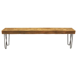 Industrial Dining Benches by JW Atlas Wood Co.