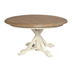Best expandable round dining room tables houzz for 144 dining table