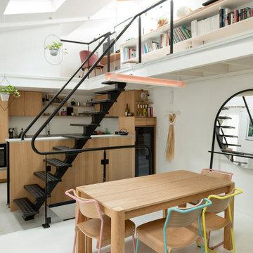 Duplex familial rénové aux dernières tendances - Projet Saint-Ouen