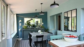 Aménagement d'une cuisine / salle a manger dans une extension récente
