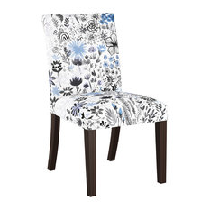 Hughes Dining Chair, Winter Botanical Blue