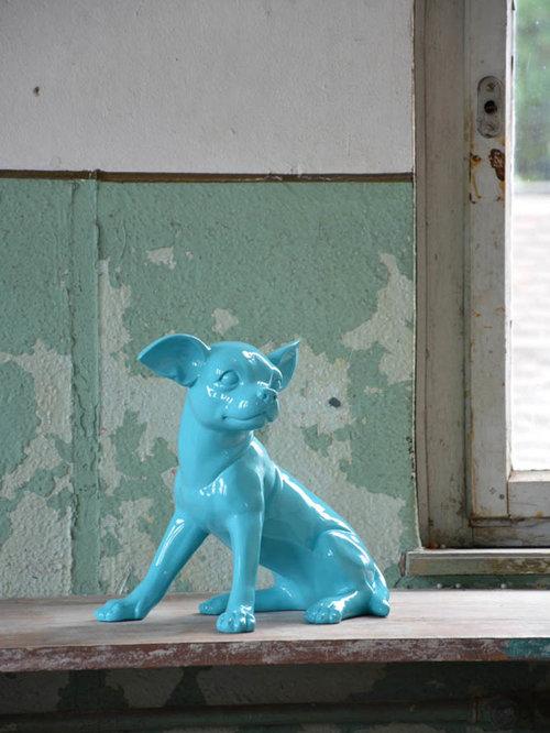 Objet deco design en resine for Objet deco turquoise