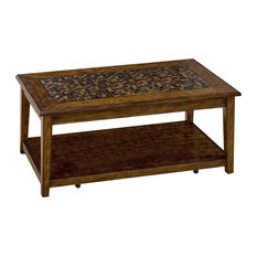 Jofran   Baroque Brown Cocktail Table With Mosaic Tile Inlay   Coffee Tables