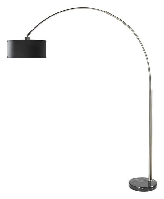 Brushed steel arc floor lamp with black shade and black marble base brushed steel arc floor lamp with black shade and black marble base aloadofball Choice Image