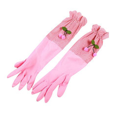 Rubber Gloves, Cleaning Gloves, Waterproof Gloves, Kitchen Laundry Gloves, Pink