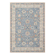 "Momeni Anatolia Machine Made Wool and Nylon Blue Area Rug, 9'9""x12'6"""