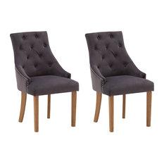 Hobbs Misty Velvet Dining Chairs, Set of 2, Natural