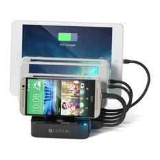 5-Port USB Charging Station, Black
