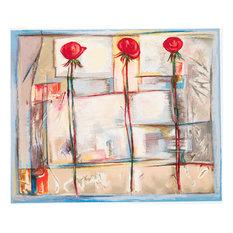"""Rose Collage"" Artwork, 21.5"" X 18"""