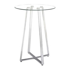 Lemon Drop Bar Table, Chrome