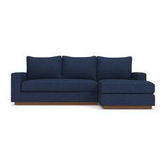 Harper Reversible Chaise Sofa, Blue Jean