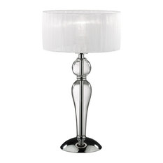 Ideal Lux Duchessa Chrome Table Lamp With Shade, Small