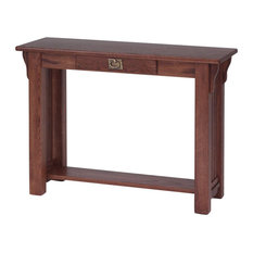 Solid Oak Authentic Mission Sofa Table Chesnut