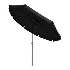 10Ft 8 Rib Outdoor Patio Umbrella Market Crank Tilt Button Sunshade Backyard
