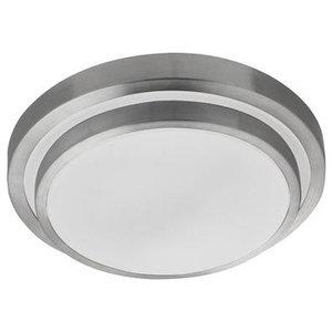 LED Bathroom IP44 2-Tier Flush Mount Ceiling Light, Aluminium and White