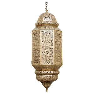 Antique Brass Amira Pendant, Large
